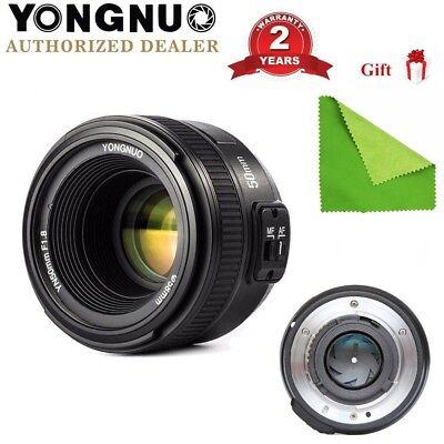 Yongnuo YN 50mm F/1.8 Auto Focus Standard Prime Lens for Nikon DSLR Cameras US