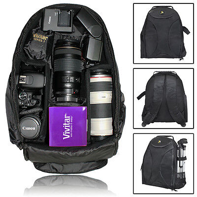Camera Backpack Bag Case for Canon EOS Rebel DSLR T5i T4i T5 T3 T2i SL2 SL1 XTi