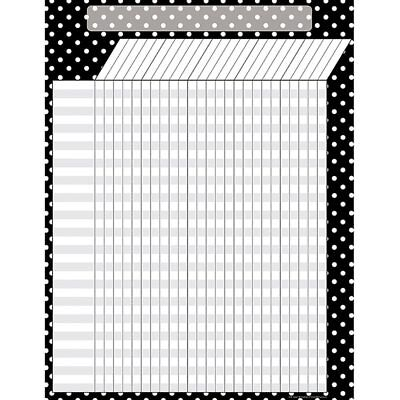 Black Polka Dots Chart - Black Polka Dots Incentive Chart Teacher Created Resources TCR7604