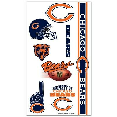 ary Tattoos Face Body FAST SHIPPING (Chicago Bears Tattoos)