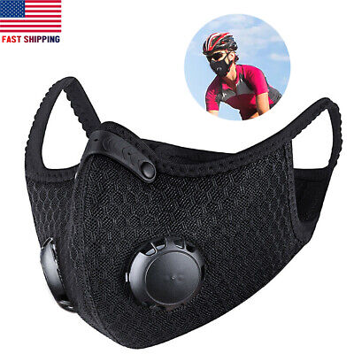 Cycling Riding Mask Man Woman Unisex Face Mask Activated Carbon Filter Washable