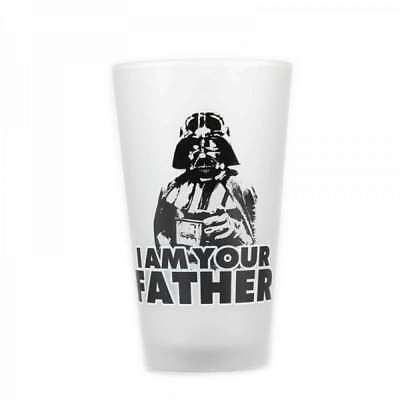 OFFICIAL STAR WARS LARGE DARTH VADER I AM YOUR FATHER PINT GLASS NEW IN GIFT BOX
