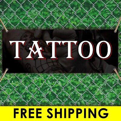 Tattoo Advertising Vinyl Banner Flag Sign Many Sizes Free Grommets