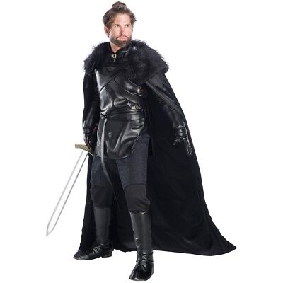 Jon Schnee Drachen Ritter Kostüm Pelz Umhang Handschuhe Game Of Thrones - Jon Schnee Game Of Thrones Kostüm