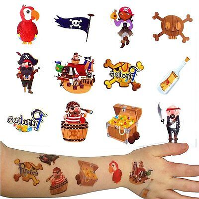German Trendseller® - Piraten Tattoos 36er Set ┃ Kindergeburtstag ┃ Mitgebsel