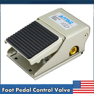 Us Foot Pedal Operated Control Valve 14 Npt Air Pneumatic Switch