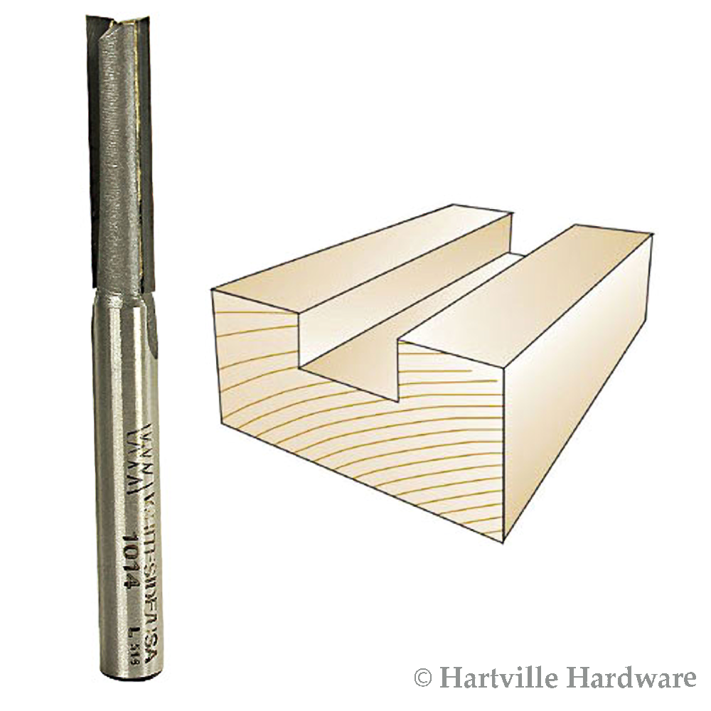 Whiteside Router Bits 1014 Straight Bit with 1//4-Inch Cutting Diameter and 1-Inch Cutting Length