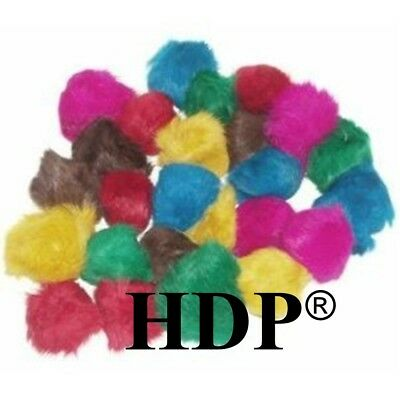 - HDP Real Fur Balls 2-2.5 inches each Cat Toys