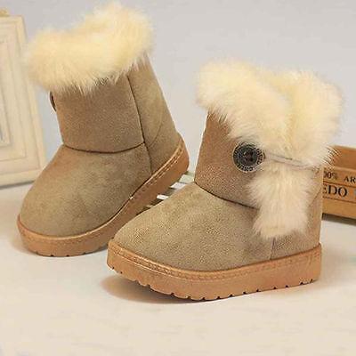 Winter Warm Newborn Baby Girls Child Plush Snow Boots Toddler Kids Shoes