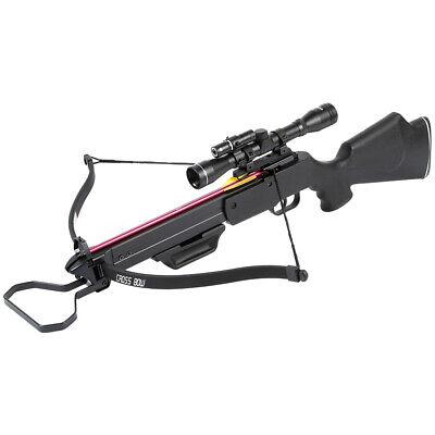 150 lb Black Hunting Crossbow Archery Bow w/ 4x20 Scope +7 Arrows / Bolts 180 80