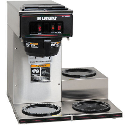 Bunn 13300.0003 Coffee Maker Low Profile Pourover w/ 3 Warmers Stainless NSF ()