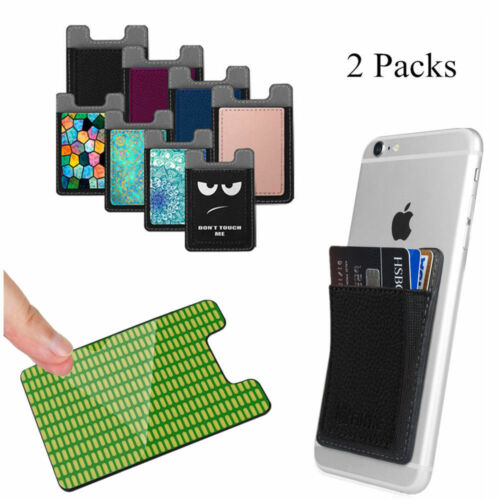 2pcs Adhesive Credit ID Card Holder Wallet Case Cover For Un