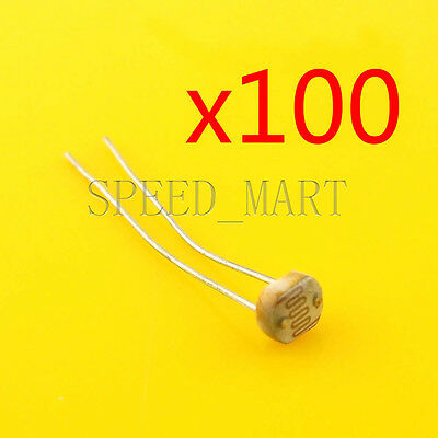 100 Pcs Photoresistor Ldr Cds 5mm Light-dependent Resistor Sensor Gl5516 Arduino