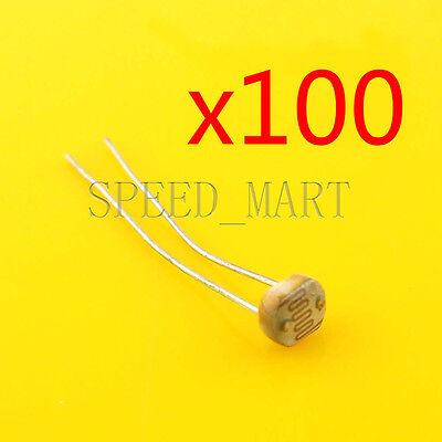 100 Pcs Photoresistor Ldr Cds 5mm Light-dependent Resistor Sensor Gl5516 Arduino