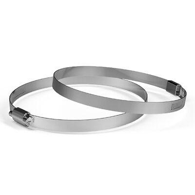 Stainless Steel Clamps 6-inch Pack Of 2 For Ducting Exhaust Ventilation