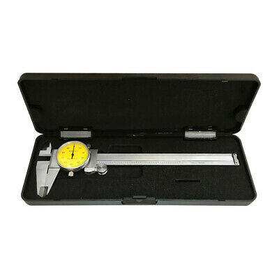 Yellow Face 0-6 Stainless Steel 4 Way Dial Caliper Shock Proof .001 Graduation