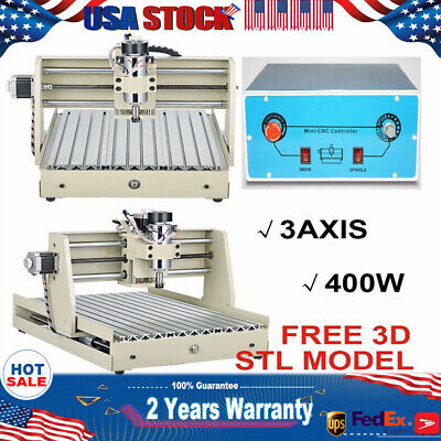 3 Axis 400w 3040 Cnc Router Engraver Machine Drilling Wood Metal Artwork Cutter