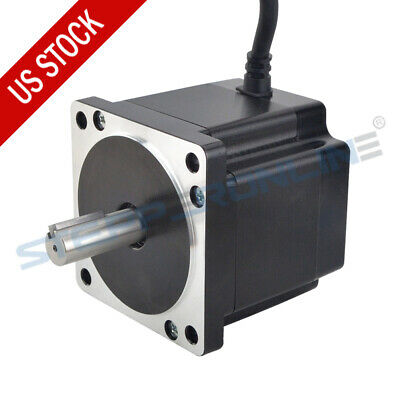 Nema 34 Stepper Motor 4.8nm 6a 86x80mm 14mm Key-way Shaft 4-wire Cnc Mill Router