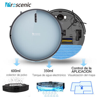 Proscenic 830P alexa robot aspirador y fregasuelos Tanque de Agua App mapeo...