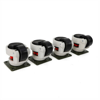 Gd-80f Set Of 4 Leveling Casters Low Noise 1000kg2200lbs Caster Fast