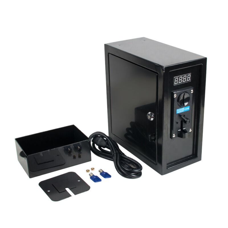 Coin Operated Timer Control Box Unit Multi Coin Selector Acceptor Power Supply