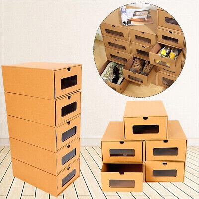 10x cajas cartón zapatos almacenamiento elegante Armario Plegable Organizador