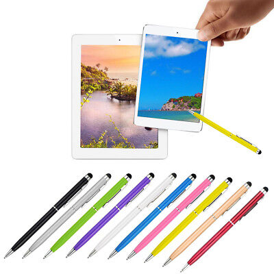 10Packs 2in1 Touch Screen Stylus & Ballpoint Pen For iphone Smartphone Tablet PC