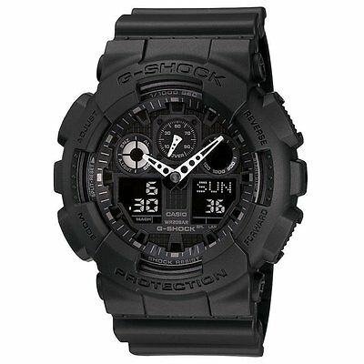 New G-Shock GA100-1A1 Men's Analog Digital X Large Black G Shock Watch
