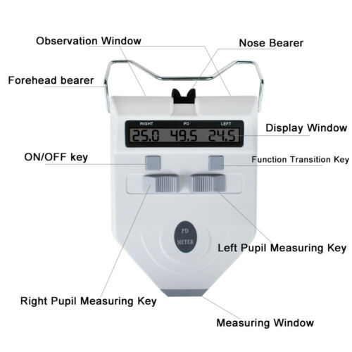 Rechargeable Optometry Device Digital LCD Optical Pupilometer PD Pupil Meter A++