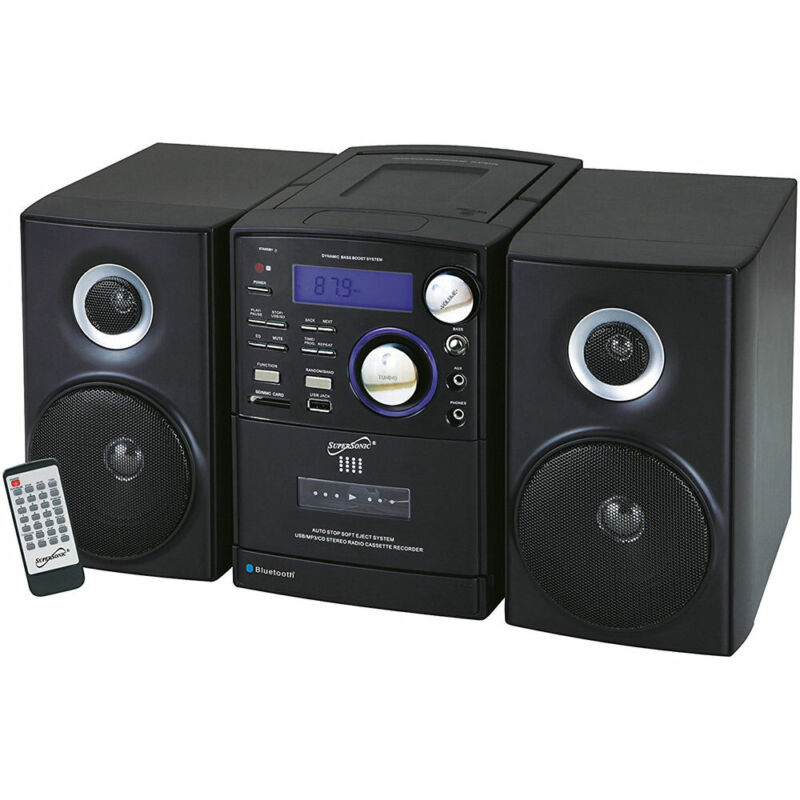 Supersonic Stereo Bluetooth CD/MP3/Cassette  Player Recorder