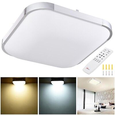 36W LED Ceiling Light Flush Mount Kitchen Home Fixture Lamp w/ Remote Control US