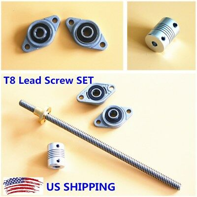 3d Printer 100-1200mm Lead 28mm T8 Lead Screw Wnut Bearing Support Coupler