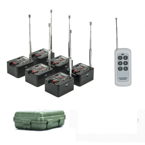 6 Cue Remote Wireless Fireworks Firing System Four Modes+Case