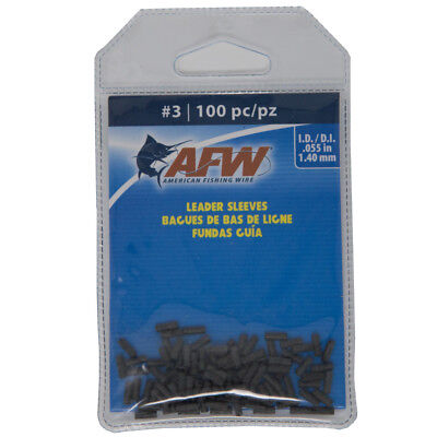 American Fishing Wire Leader Sleeves (AFW American Fishing Wire Single Barrel Copper Crimp Sleeves Leader Size 3)