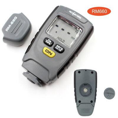 Rm660 Coating Thickness Gauge Digital Portable Lcd Display Meter Tester 0-1.25mm
