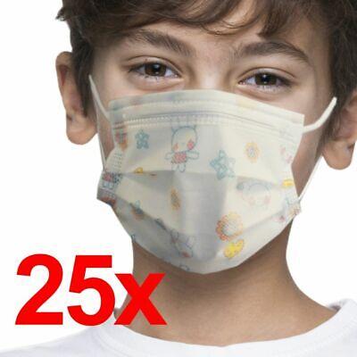 Masken Kinder Schutzmaske Mundschutz Maske Gesichtsmaske Einweg Atemschutz 3 La
