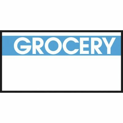 Monarch White Labels With Reversed Blue Print Grocery For 1110 1-line Pricing