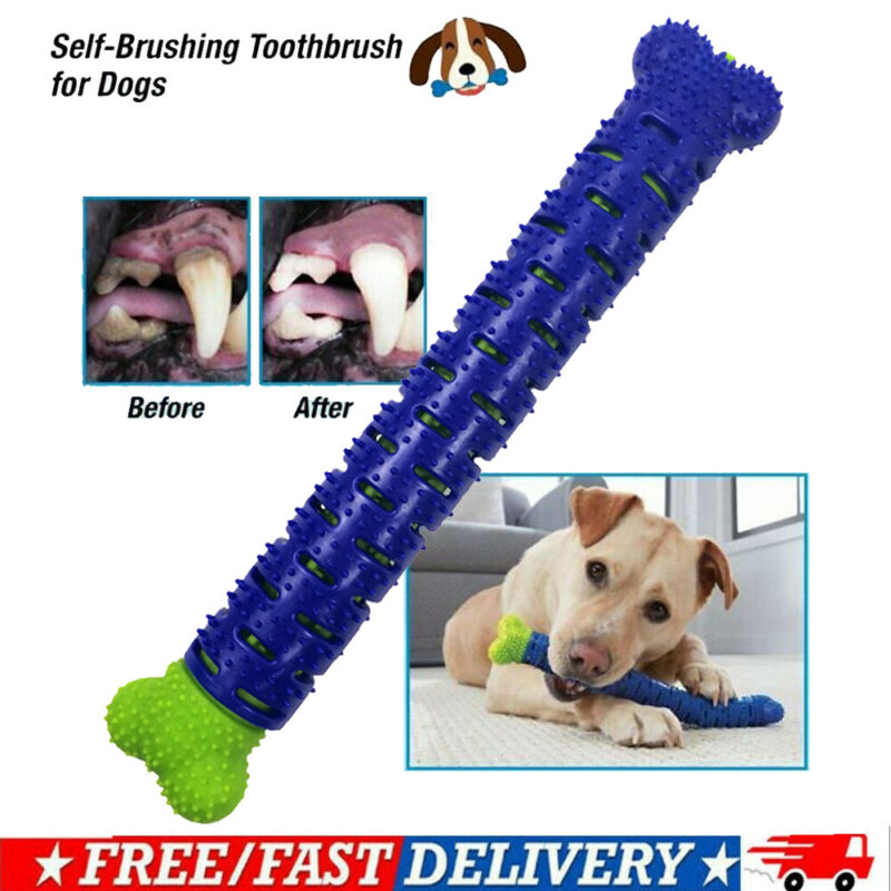 NEW Dog Chew Toy Dog Toothbrush Pets Molar Tooth Cleaning Brushing Stick Doggy