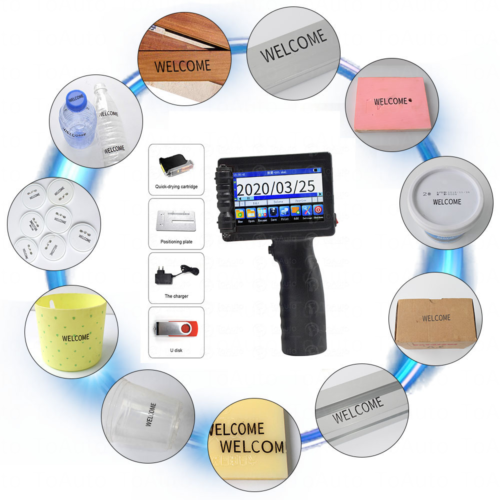 Industrial Handheld Coding Machine For Date QR Logo barcode Printing 2-12.7mm