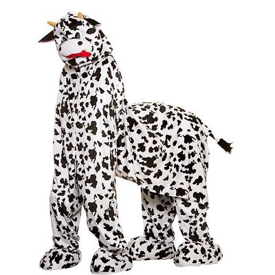 Pantomime Cow Costume Adults 2 Person Suit Mascot Black White Play - 2 Person Costume