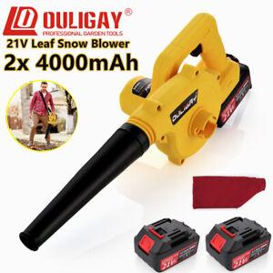 21V 2in1 Cordless Garden Yard Leaf Snow Blower Air Vacuum Lightweight 2x 4000mAh