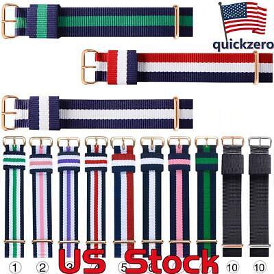 Fashion Nylon Fabric Watch Belt Accessories Belt Buckle Bands Sports Watch Strap Belt Accessories Buckle