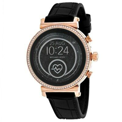 Michael Kors Access Women's MKT5069 Sofie Black Silicone, Heart Rate Smartwatch
