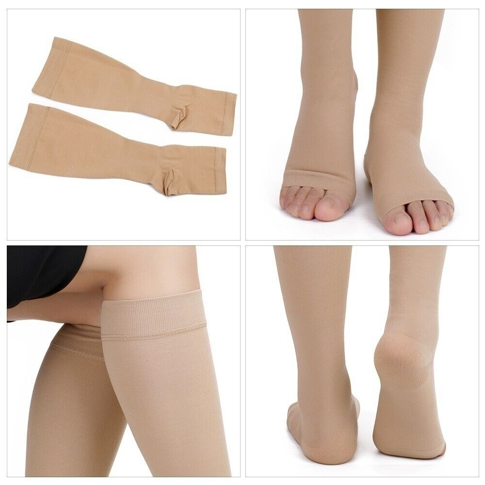 20-30mmhg Compression Knee Leg Relief Pain Support Open Toe