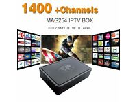 24HRS FREE TRIAL Mag box 254 IPTV box subscription