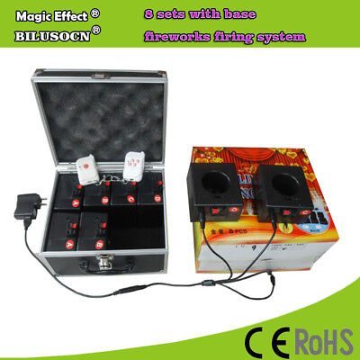2 Remote+8cues stage fountain fireworks firing system+rechargeable+Stage effects