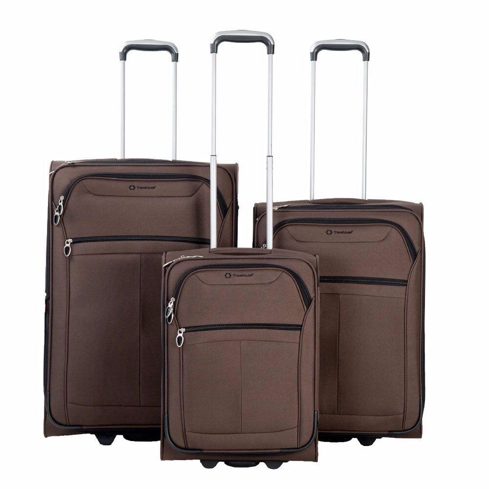 SALE! 3 Piece Set Super Lightweight 2 Wheel Luggage Suitcase ...