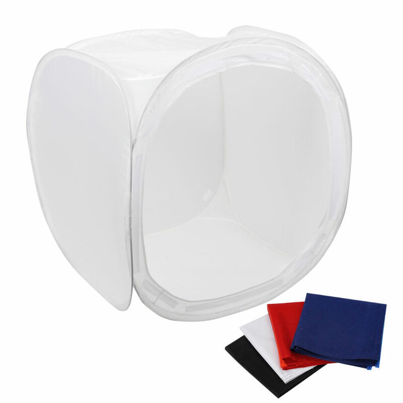 """36"""" Photo Studio Photography Light Tent Backdrop Kit Cube In A Box w/Background"""