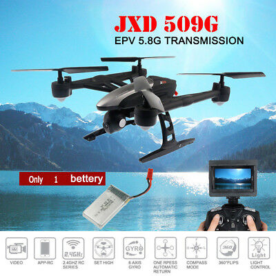 JXD 509G RC Quadcopter Drones 4CH Gyro FPV with HD Camera LCD display Battery UK