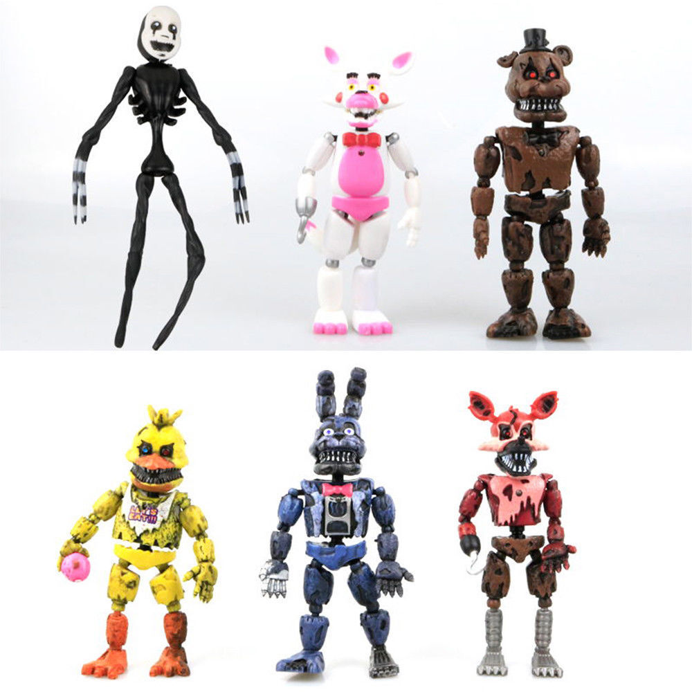 """6 PCS Five Nights At Freddy's FNAF Bunnie Game 6"""" Action Fig"""